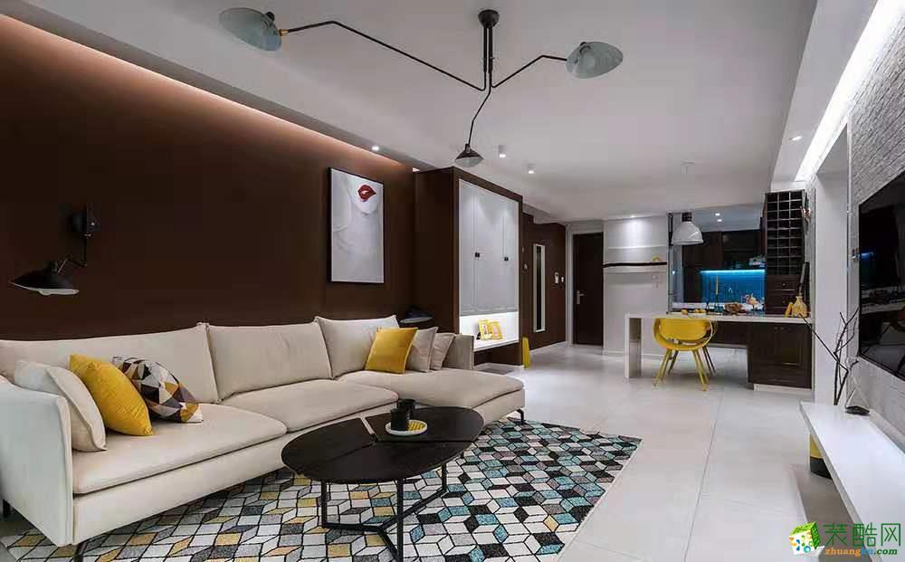 金科廊桥水乡100平米北欧风格三居室装修效果图片