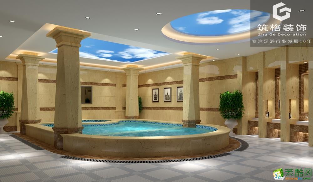 成都1500平米大型足浴會所設計案例圖片
