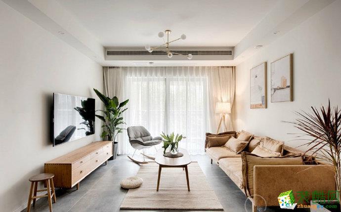 凤凰城73平米北欧风格两居室装修效果图片