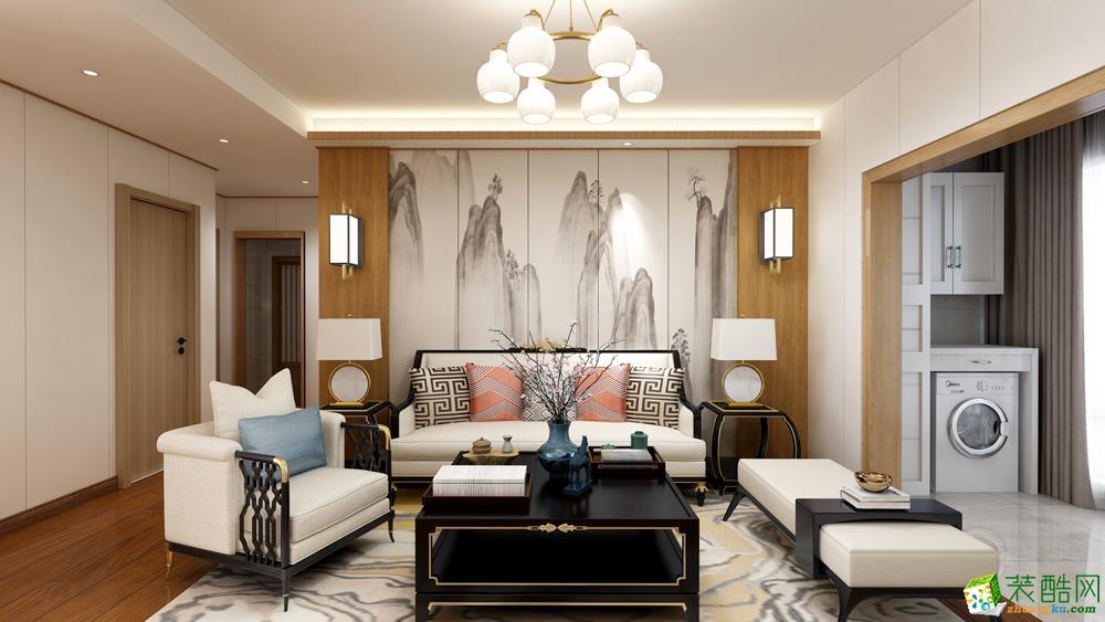 98平米二室一厅两卫一厨日式风格案例效果图