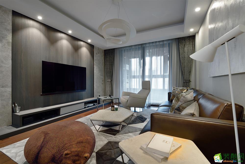 奧園玖儷灣127平米現代風格三居室裝修案例圖片