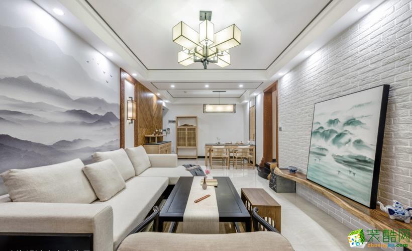得一剑桥城116平米原木风格-白色+原木配色的家更宽敞明亮