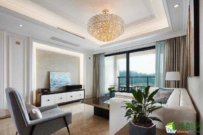 重慶100平米輕奢混搭風家居裝修設計