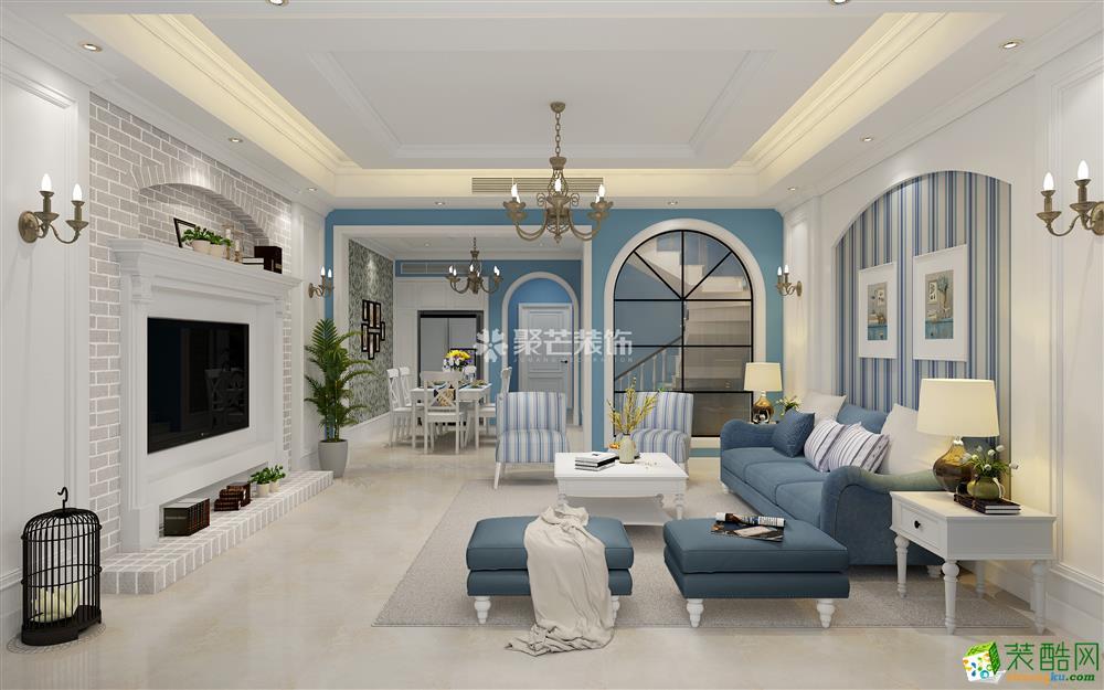 东原嘉悦湾169平米地中海风格别墅装修效果图片