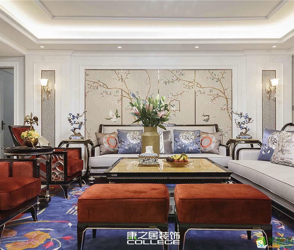 保利蓝海嘉居中式新古典装修装饰设计案例