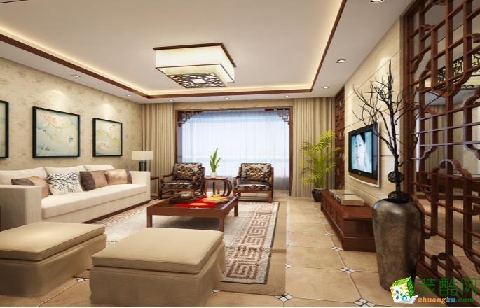 六安147平三室中式风格装修效果图-七号公馆装饰