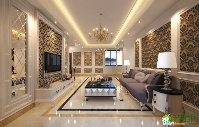 九江111平三室欧美风格装修效果图--好易家装饰