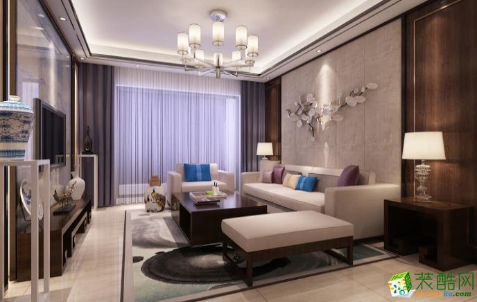 九江99平三室新古典风格装修效果图--好易家装饰