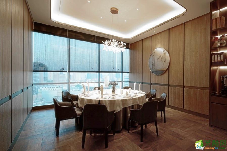 濟南園林生態飯莊酒樓300平中式風格裝修效果圖