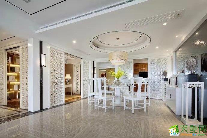 协信洋房130平米中式风格跃层住宅设计图片