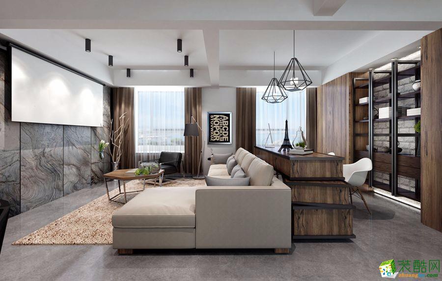 耀和荣裕125平米现代简约三室两厅装修效果图