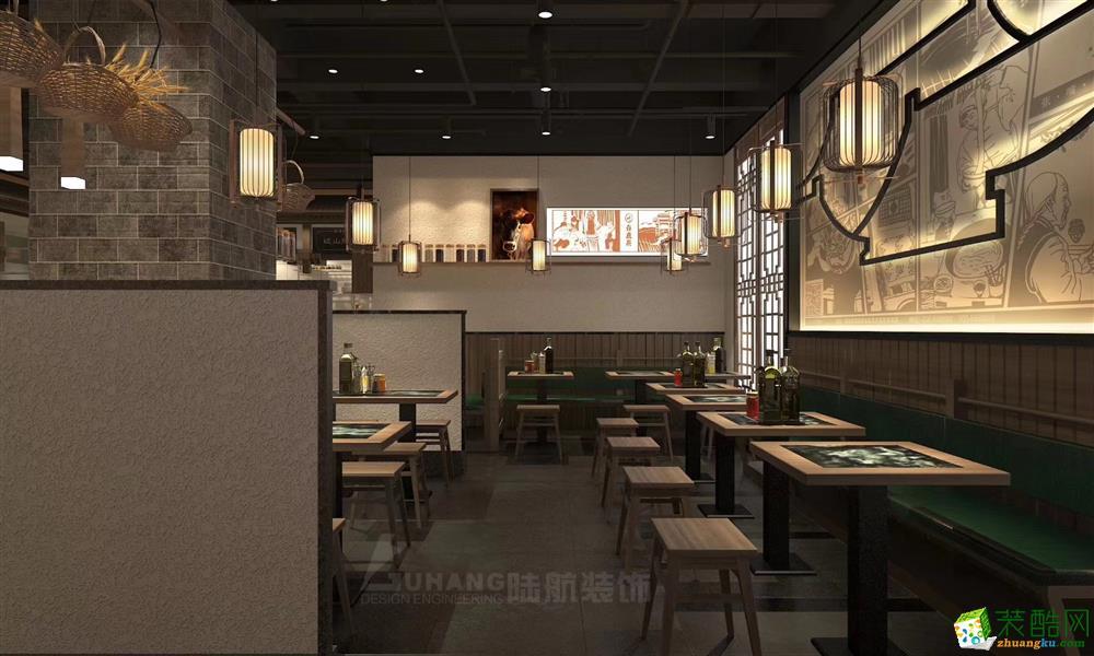 西安600平米餐廳裝修效果圖