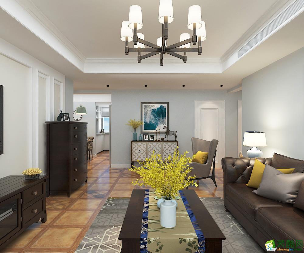 【业之峰装饰】 侨馨园 150 简约美式_美式风格-三室两厅两卫