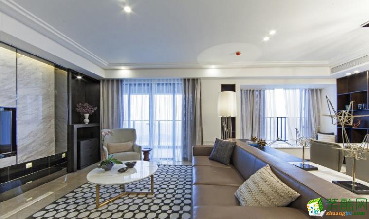 巴中艺苑装饰-120平现代三居室装修效果图