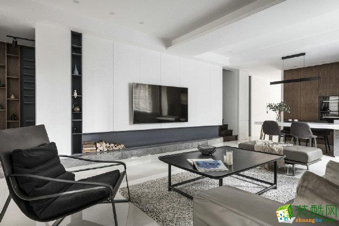 重慶95㎡現代簡約風格三居室裝修效果圖片