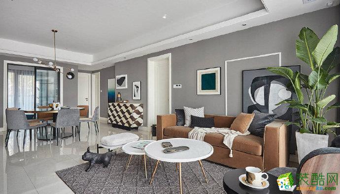 重慶95平米現代輕奢風格家居裝修案例設計