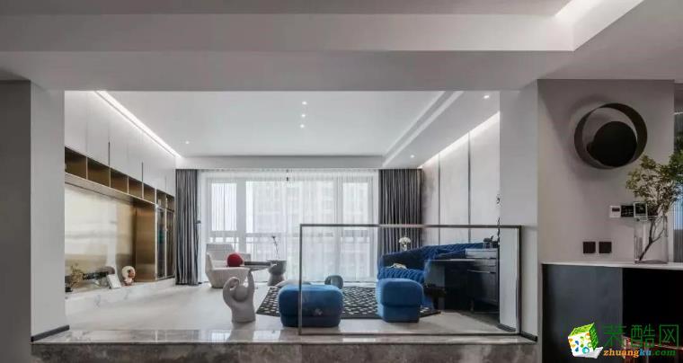 南昌创艺装饰-150平现代三居室装修案例效果图