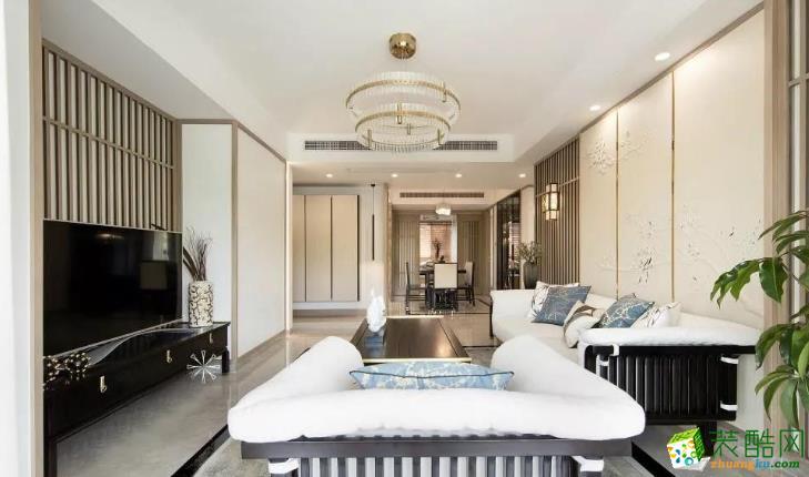 南昌创艺装饰-新中式140平大三室装修案例效果图_中式风格-三室两厅两卫