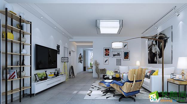 成都160平米現代風格三室兩廳裝修案例圖片