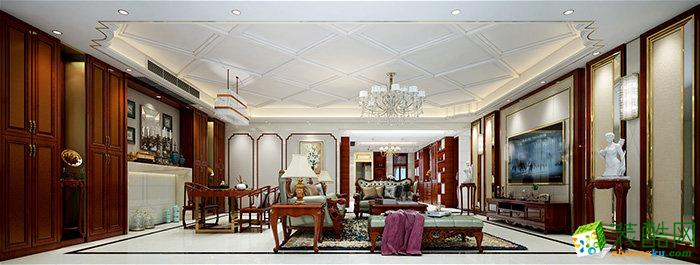 成都280㎡新中式风格五居室装修案例图片
