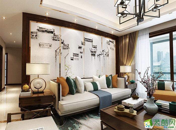 成都125平米新中式风格四室两厅装修案例图片