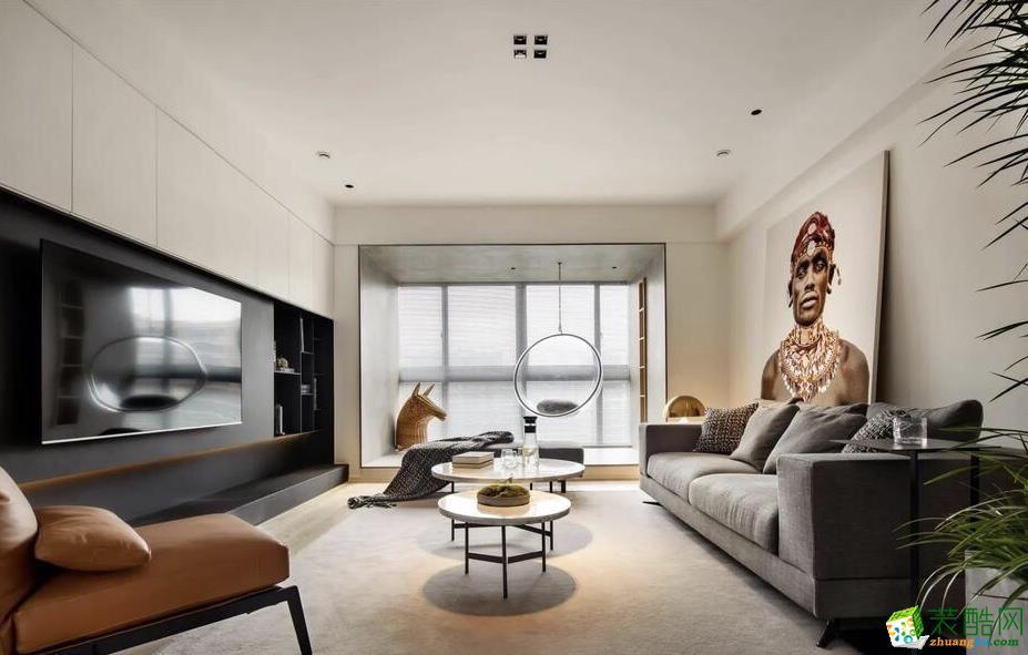 广州118平米北欧风格四居室装修案例图片