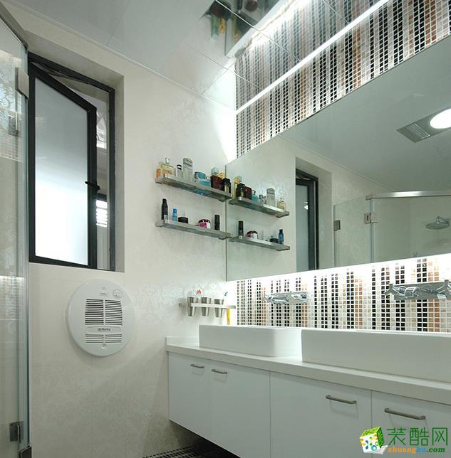 长沙126平米现代风格三室两厅装修效果图