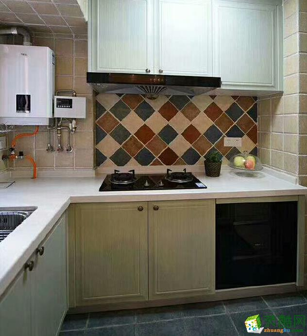 长沙80平米简美风格两室两厅装修效果图