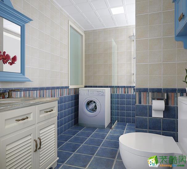 三室一厅一卫装修效果图-长沙96平米地中海风格