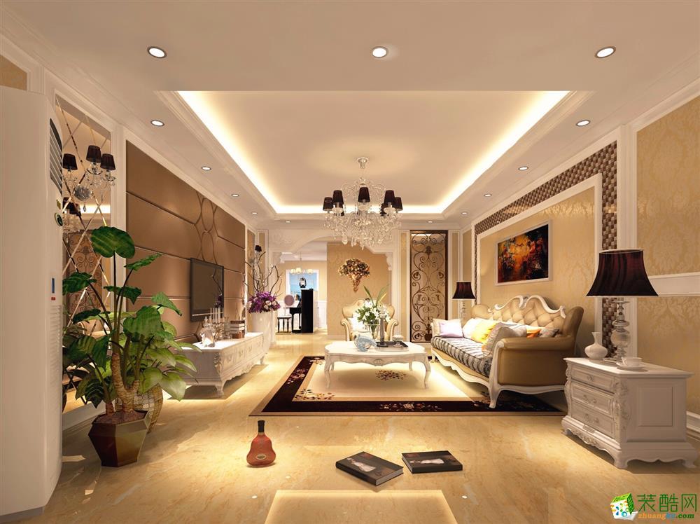 上海145平米欧式风格四居室装修效果图片