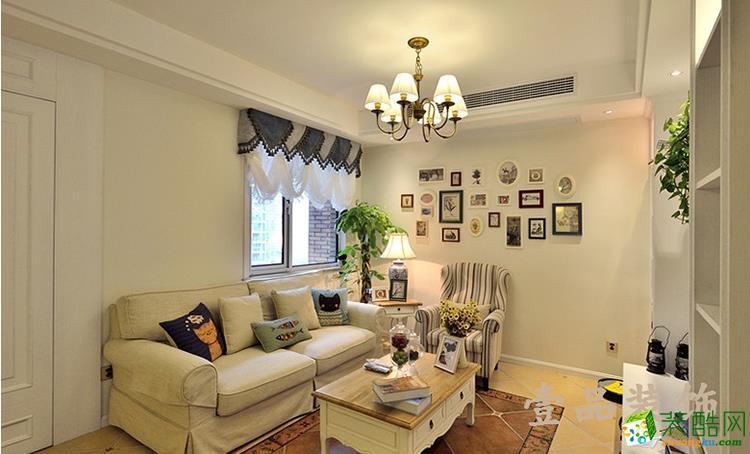 六安100平三室美式小清新风格装修效果图-壹品装饰