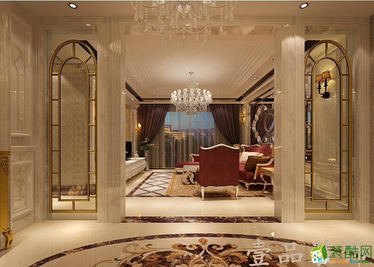 六安香樟公寓160平米欧式风格装修效果图-壹品装饰