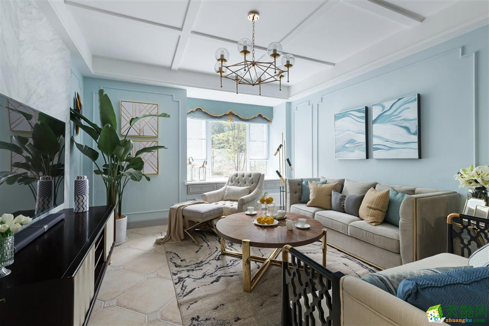 天府歐城130平米法式風格三室兩廳效果圖片