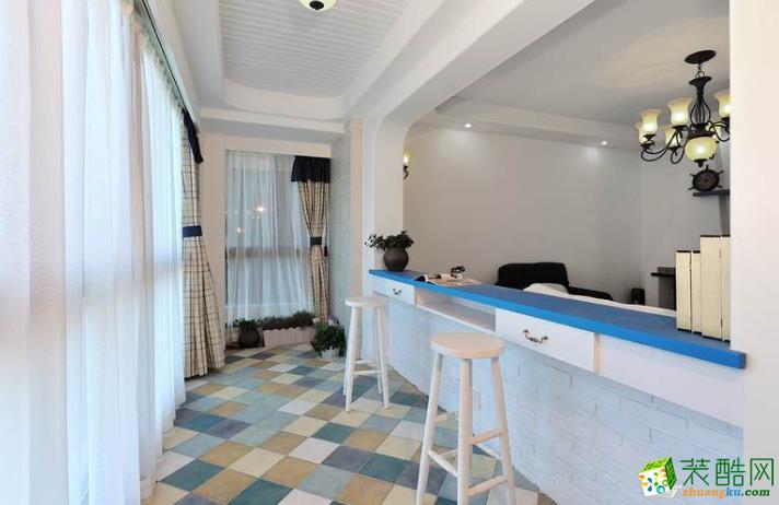 西安120平米地中海风格三室两厅装修效果图