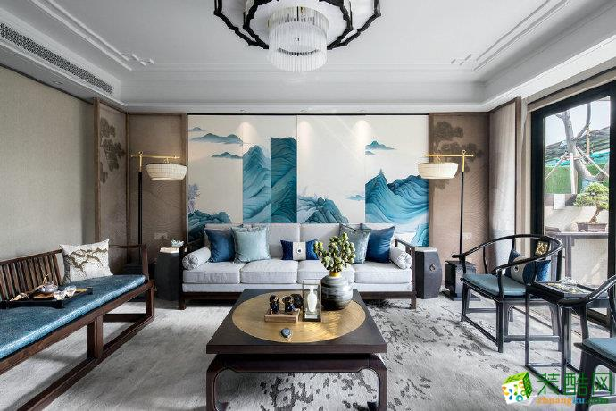 130平米儒雅新中式風格家居裝修設計圖