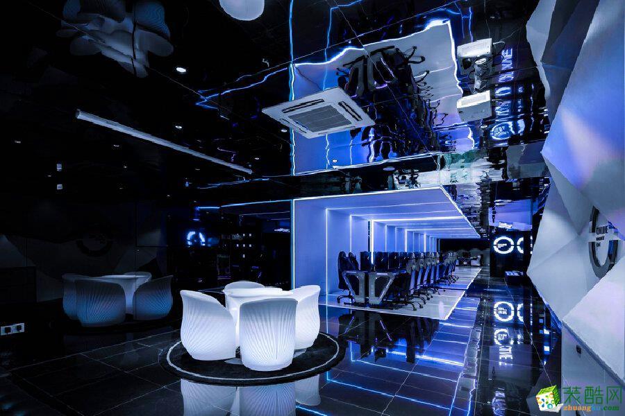 青岛特色主题体验式电竞网咖200平现代风格装修效果图
