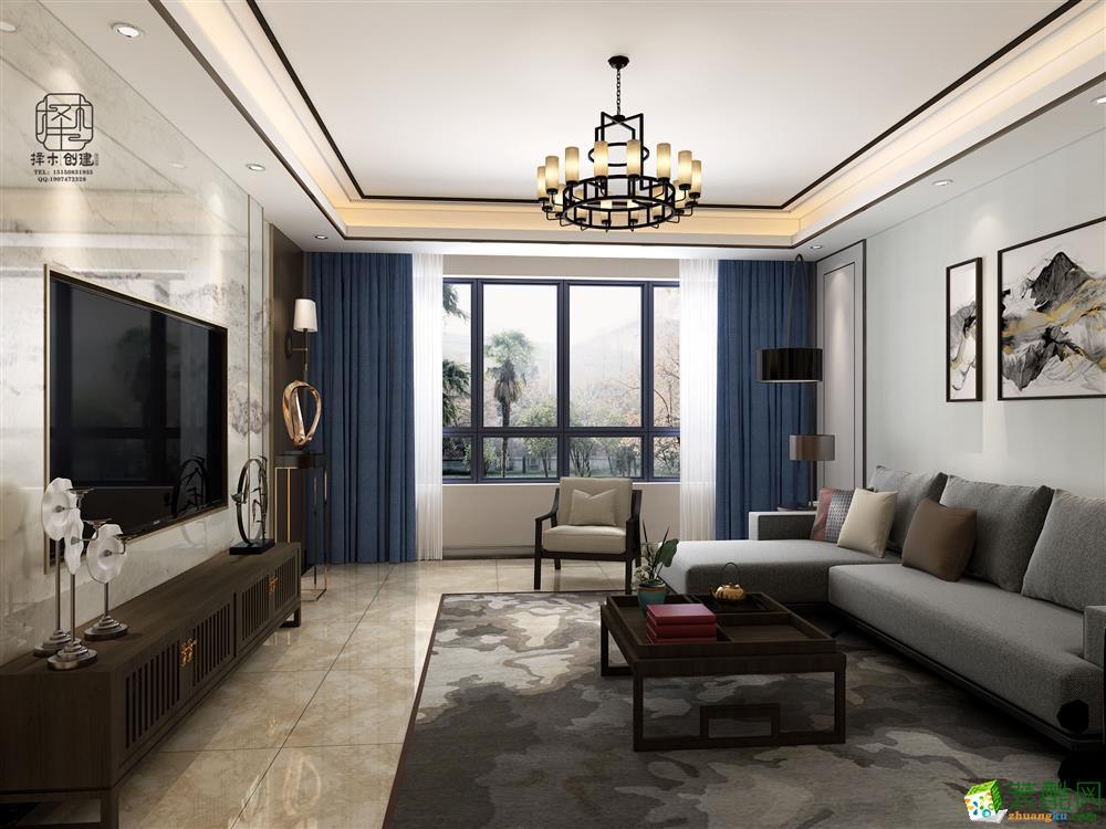 水印康庭120�O三室两厅两卫中式风格设计作品