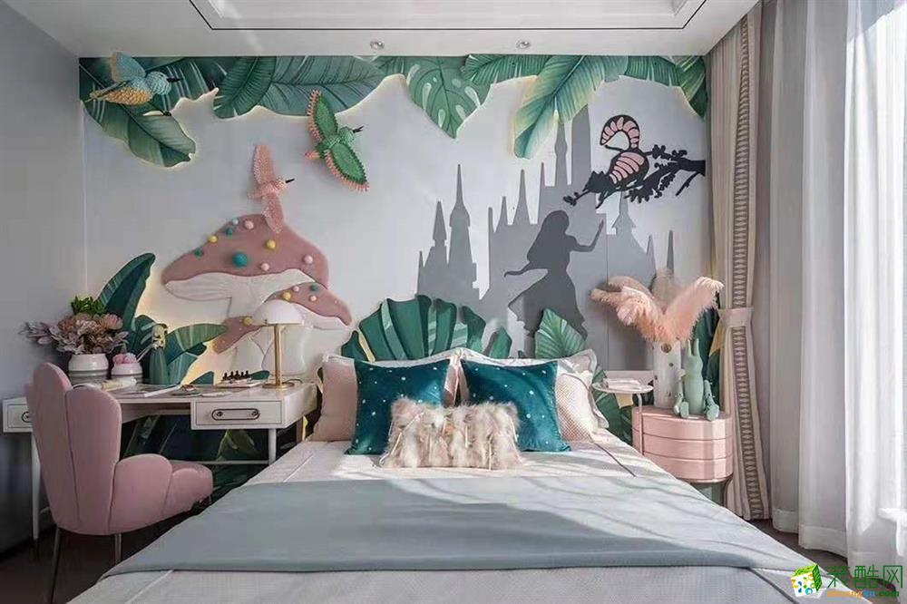 绿都万和城别墅400平两室中式风格装修效果图