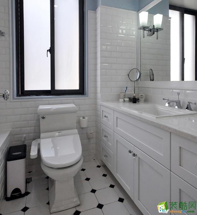 江阴114平米美式风格三室一厅一厨一卫装修效果图