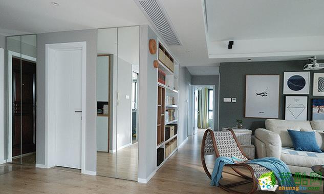 江阴139平米现代风格三室两厅装修效果图