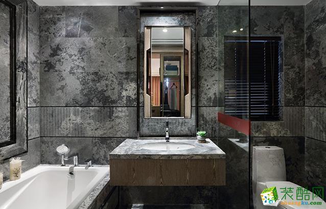 江阴100平米中式风格三室两厅装修效果图