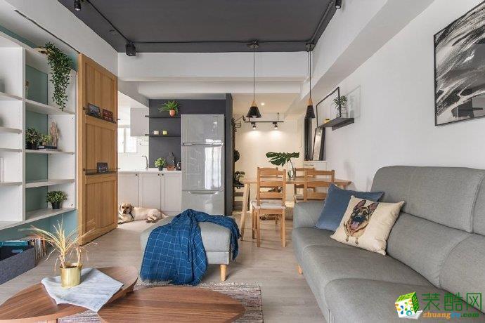 璧山90平米现代简约风格三室一厅装修案例图片