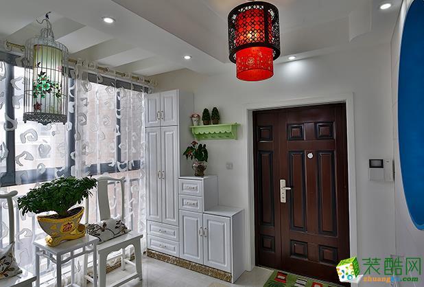 江阴120平米中式风格四室两厅装修效果图