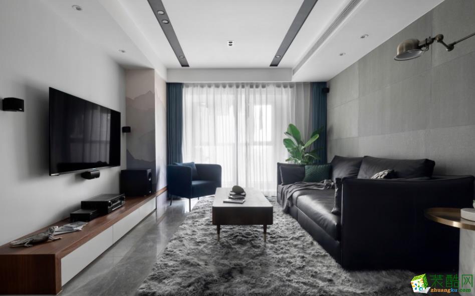 昆明110平米三室两厅现代风格装修效果图