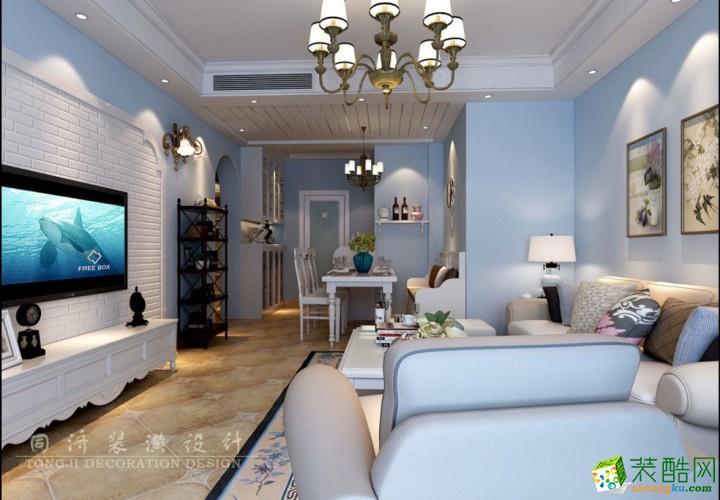 上海98平米地中海风格两居室装修效果图片