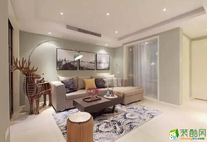 重慶103平米簡約風格兩室兩廳裝修案例圖片
