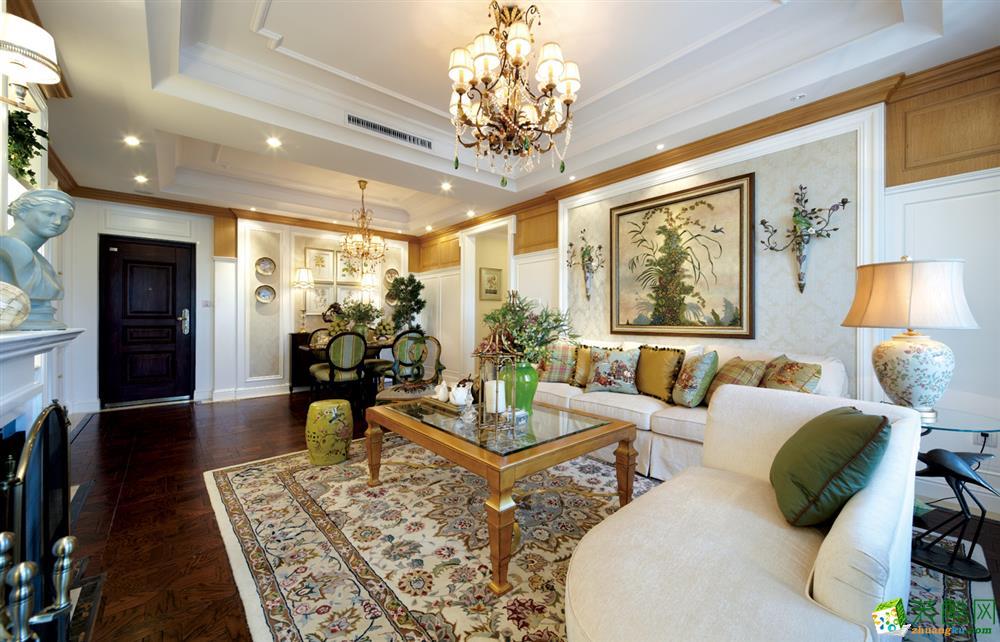 富豪公馆120平米美式风格三室两厅装修案例