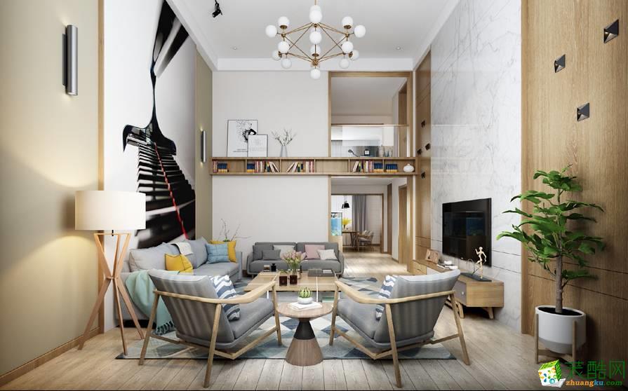 重庆90平米现代风格三居室装修案例图片