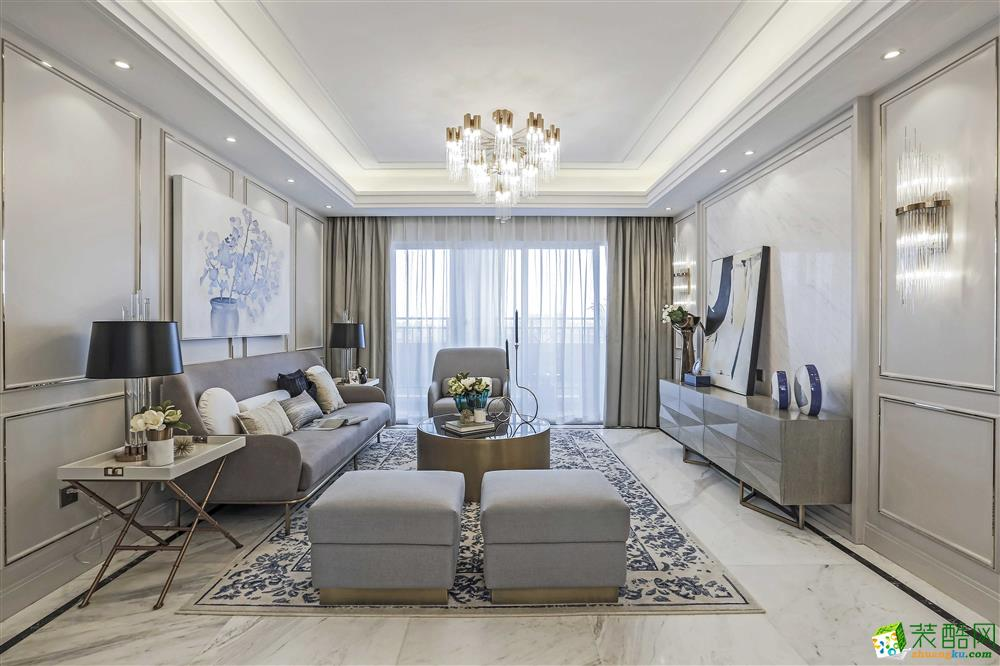 金地悅瀾道143平米法式四居室裝修案例