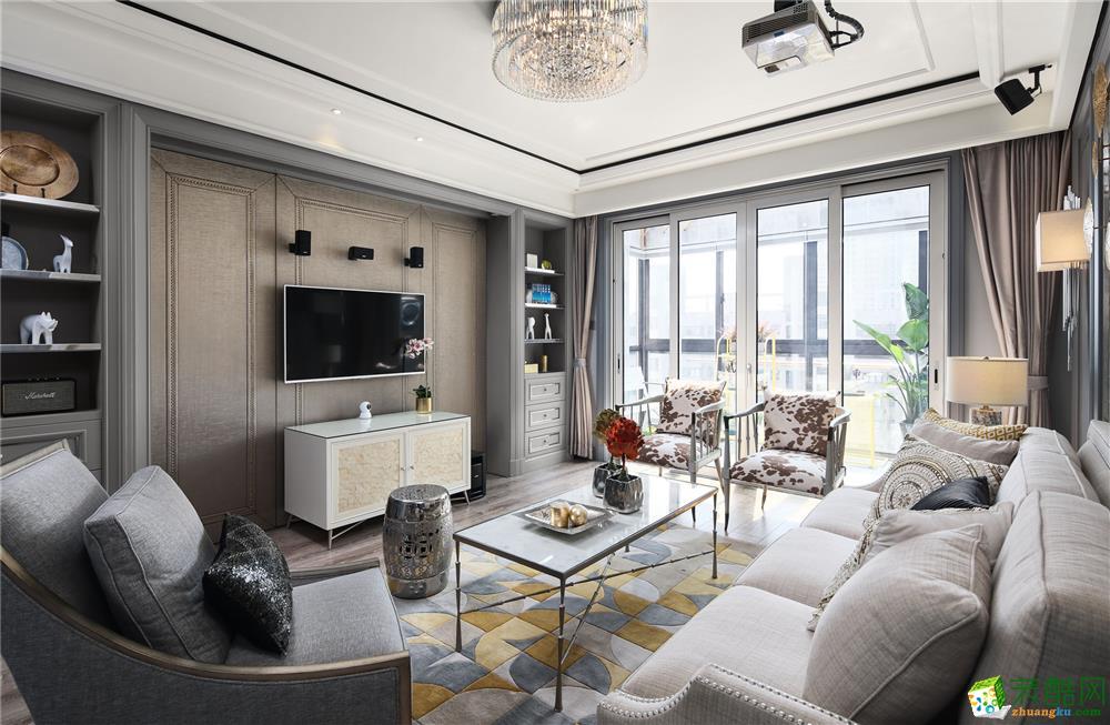 新城悅雋盛世135平米法式三居室裝修案例